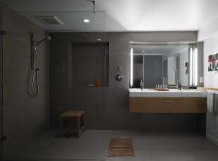 简约风格卫生间,不繁琐的设计,整体非常干净整洁。,卫生间,简约,墙面,白色,原木色,