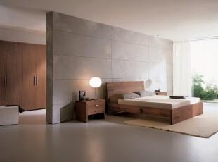 现代简约风格卧室,开放式的设计和落地窗的打造让视野极为开阔。整体简洁、大方。,卧室,现代,简约,原木色,白色,灯具,窗帘,墙面,