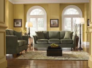 简约欧式客厅,优雅、舒适、浪漫。,客厅,欧式,简约,黄色,灯具,墙面,