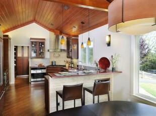 ,厨房,吧台,现代,灯具,原木色,