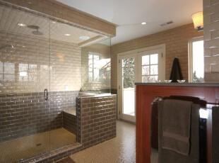 现代卫生间,墙面采用砖墙设计,别有风味。玻璃门窗取代了部分砖墙,更显通透明亮,也去除了砖墙单一的直线条印象。,卫生间,现代,宜家,小资,墙面,黄色,白色,