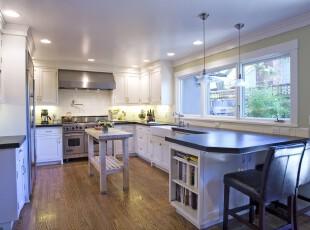现代简约风格厨房,整洁宜家。,厨房,现代,简约,宜家,收纳,吧台,白色,黑白,
