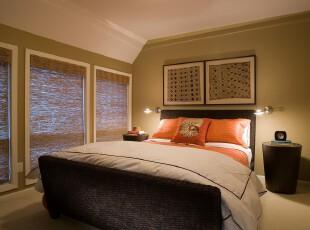 现代简约风格卧室,颇有小资格调。,卧室,简约,现代,小资,绿色,黑白,春色,窗帘,灯具,墙面,