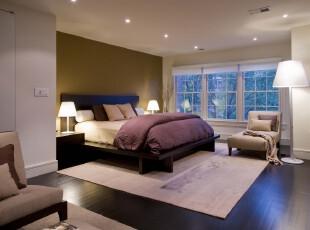 现代宜家风格卧室,大方的设计和田园的色彩给人静谧的感觉。,卧室,现代,简约,宜家,白色,绿色,紫色,灯具,