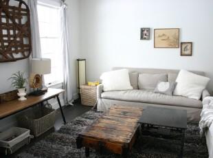 现代风格小客厅,选用小巧的物件营造出一份小资情调。,客厅,现代,小资,相片墙,收纳,白色,原木色,