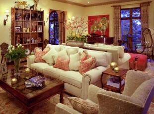 ,客厅,新古典,春色,