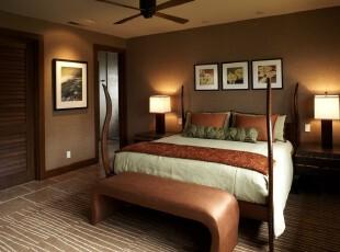 ,热带风情,卧室,