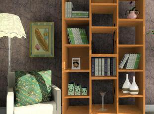 商品名称:简约敞开式书架 品牌:Luck Wood 颜色选择:多色选 各单品尺寸:1100*300*2200MM,现代主义,书架,