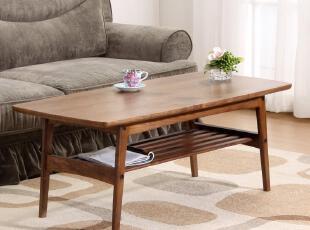 顶板为中纤板贴黑胡桃木皮,颜色为黑胡桃木本色;稳重大方,容易与其他家具配套。,现代主义,茶几,