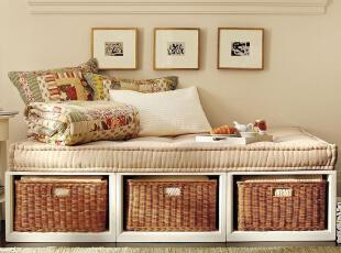 PotteryBarn储物床定制美式全实木家具定做,现代主义,收纳箱,