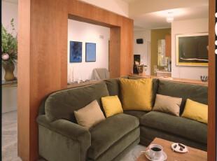 ,客厅,简约,小资,绿色,黄色,