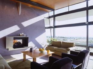 ,客厅,现代,简约,小资,紫色,