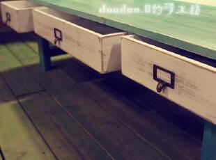 品牌: DuoDuo.Q 颜色分类: 石青&白色 风格: 地中海 家具产地: 湖北 是否可定制: 是 结构材质: 木质 木质: 杉木 ,地中海风情,餐桌椅,
