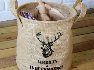 大牌设计创意家居 经典个性收纳桶 布艺 脏衣收纳桶 杂物收纳筐,传统格调,收纳篮,