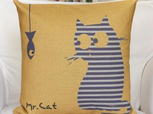 月新款Mr.cat系列,猫咪9号抱枕。如果你不能养一只猫咪,就让它陪你;如果你养了猫咪,你不在家,让它陪你的猫咪。,现代主义,靠垫,
