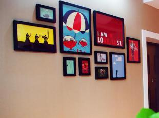 金鼎照片墙 创意 照片框实木相框10框超大客厅墙 墙框 宜家热销,现代主义,照片墙,