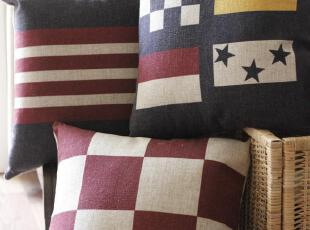 外单才有的高级棉麻和帆布,非常厚实,质地极好  做旧复古风,实物比图片稍显暗些,如果你喜欢怀旧风那你肯定喜欢这种调调!,现代主义,靠垫,