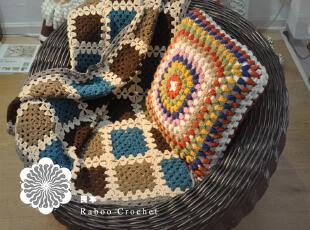 纯手工钩针毯子,海量到货~本款共五只新颜色+1只原本颜色,现代主义,地毯,