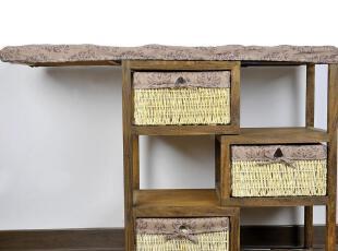 同木 出口欧美环保田园实木熨衣架\收纳柜,传统格调,收纳篮,