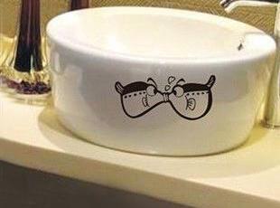 产品名称:【接吻鱼】手绘墙贴/橱柜... 品牌: Lemon Tree/柠檬树,现代主义,浴室台盆,