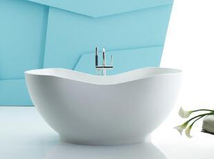 舒适圆润的空间设计,可搭配多种浴室风格 配以同样材质的排水,浑然一体,当代风格,浴缸,