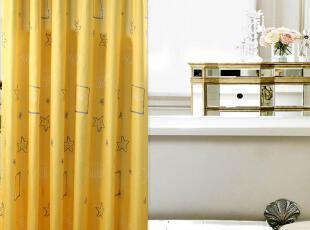 为了防止浴帘发霉,请每次使用完后将浴帘抖动一下,使水滴风干,现代主义,浴帘,