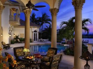 ,热带风情,庭院,