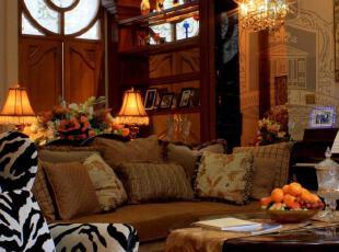 ,传统格调,客厅,