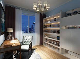 书房:合理的平面布局,显得书房大方得体。保留原有的收回墙面。,