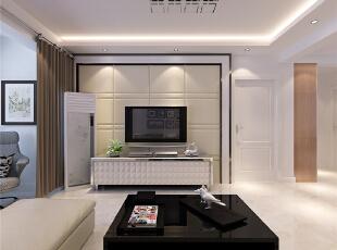 客厅:客厅以白色调简欧为主,地面采用偏黄色玻化砖,配上欧式沙发和地毯,是简单和复杂的结合,是空间明快而不单调,更能体现出欧式风格的味道,背景使用石膏线和买塞克团的砖及壁纸,使空间更加丰富,有特点。,