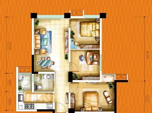 中粮香颂丽都一期1,2号楼图片层a背景电视大全墙刀割皮雕标准户型图片