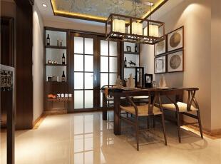 餐厅背景墙用了统一协调的原则,与影视墙造型相呼应。 ,