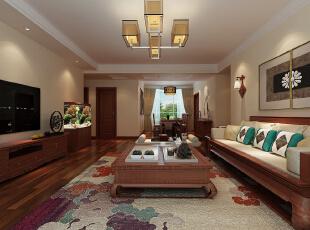 走廊的吊顶划分了客餐厅的区域,彰显了客厅的宽敞大气。,
