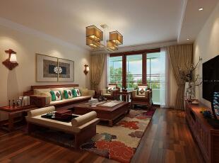 用中式的家居布局把原有的空间净化,把气质和品位含蓄的表现出,