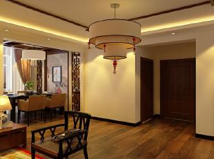 设计理念:古典的餐厅造型墙与吊顶的搭配,使空间更有层次感,打破了空间的沉闷感,显得空间更生动。,