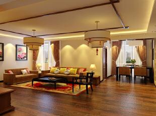 主要暖色为主,配以深色的实木家具,使空间显得更加稳重大气。凸出了主人的成熟与成功,