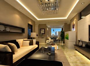 设计理念:通过家具合理的摆放安排和整体的色彩搭配为客户打造一个淡雅舒适的睡眠空间。 设计亮点:卧室的色彩搭配使整个空间舒适没有压迫感也不缺乏温暖的感觉,吊灯和壁纸为整个卧室增添了温馨浪漫的元素。,