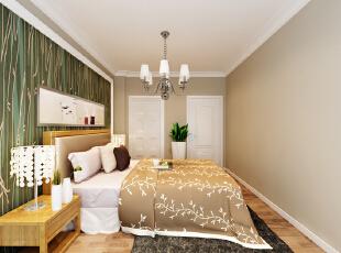 设计理念:卧室采用淡色壁纸,搭配白色家具,让房间看起来更加干净整洁。 亮点:延续整体温馨简约的设计,书桌的摆放更增加了空间的使用功能性。,