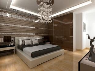 为了让卧室看起来更简约明了,衣柜采用同色系的烤漆镜面,造型极简,硬朗明快的直线条随处可见。这就是结合了实用主义和简约浪漫主义的家居生活。 ,