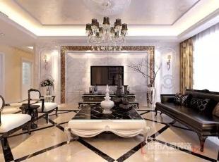 西安城市人家装饰公司│曲江千林郡180㎡欧式新古典风格优雅生活现代之美,