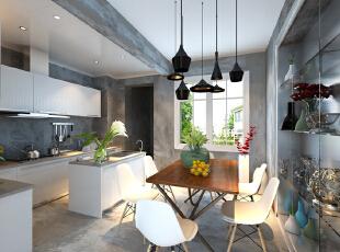 设计理念:清水墙的质感客厅使空间更有味道,大量清水工艺的运用,让空间融合起来使客餐厅更加和谐统一,它凝结着设计师的独具匠心,既美观又实用。 亮点:清水工艺的沙发配以黑色真皮沙发和白色电视墙。,