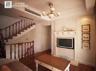 这是设计时画的二楼起居室效果图,