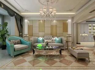 颇具风情的沙发,就这么散发着欧式的韵味。现代时尚邂逅,碰撞出的是更精美高端的设计,和更高品质的生活享受。--客厅整体装修效果图展示,