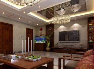 【乐豪斯装饰】想象国际南区129平三室+新中式客厅整体装修设计效果图~,