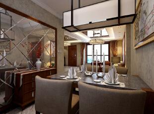 【乐豪斯装饰】想象国际南区129平三室+新中式餐厅整体装修设计效果图~,