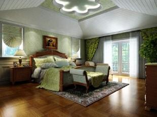 优雅的白色开放漆,自然的木纹,面包色的仿古砖,生机勃勃的绿色壁纸,无不透露着田园的气息。,