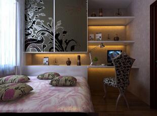 郑州实创装饰—锦绣山河110平三居—卧室设计,
