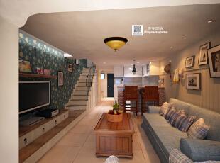 设计时画的客厅效果图,