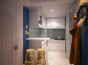 这是设计时画的厨房效果图 ,