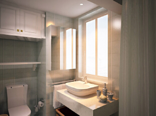 这是设计时画的卫生间效果图,
